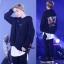 เสื้อฮู้ดแจ็คเก็ตเกาหลี BTS พิมพ์ลายหน้าหลัง มี3สี