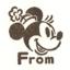 ตัวปั๊มฐานไม้รูปมินนี่ From (Minnie Mini Stamper DO-134AE) thumbnail 2