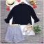 2897เซท 2 ชิ้น เสื้อชีฟอง แขนตุ๊กตาปลายแขนระบาย thumbnail 9