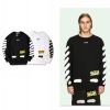 เสื้อ Off-White x Black Diagonal Spray Sweatshirt