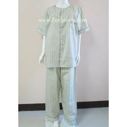ชุดนอน(ช)กก.ขายาวแขนสั้น ผ้า Cotton เกรด เอ แบบลาย คอกลม ขนาดไซส์ XL