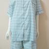 ชุดนอน(ช)กางเกงขาสั้น ผ้า Cotton เกรด เอ แบบลายสีเขียว คอกลมและคอปก ขนาดไซส์ XXL