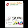 กระดาษอาร์ตด้าน 130 แกรม/A3 (500 แผ่น)