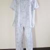 ชุดนอน(ช)กางเกงขายาวแขนสั้น ผ้าซาติน เกรด เอ คอปก แบบลาย ขนาดไซส์ XL