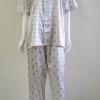 ชุดนอน(ช)กางเกงขายาวแขนสั้น ผ้าซาติน เกรด เอ สี คอปก แบบลาย ขนาดไซส์ XL