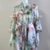 เสื้อคลุม+ชุดนอน(2 ชิ้น) ผ้าซาติน เกรด A แบบลายสีน้ำตาล สินค้าดีมีคุณภาพ
