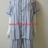 ชุดนอน(ช)กางเกงขาสั้น ผ้า Cotton เกรด เอ แบบลายสีเทา+ชมพู คอกลม ขนาดไซส์ XXL
