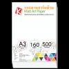 กระดาษอาร์ตด้าน 160 แกรม/A3 (500 แผ่น)