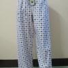 กางเกงนอนขายาว(ชาย) ผ้าคัตตอน เกรด เอ แบบลาย โทนสีม่วง ไซส์ L