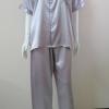 ชุดนอน(ช)กางเกงขายาวแขนสั้น ผ้าซาติน เกรด เอ คอปก ขนาดไซส์ XL
