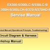 หนังสือ คู่มือซ่อม วงจรไฟฟ้า วงจรไฮดรอลิก จักรกลหนัก Hydraulic Hitachi Ex300-5, Ex330-5, Ex350-5, Ex370-5 (ทั้งคัน) EN
