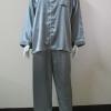 ชุดนอน(ช)กางเกงขายาวแขนยาว ผ้าซาติน เกรด เอ สีเทาเข้ม คอปก ขนาดไซส์ XL สินดีมีคุณภาพ