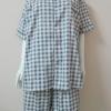 ชุดนอน(ช)กางเกงขาสั้น ผ้า Cotton เกรด เอ แบบลายสีน้ำเงิน+น้ำตาล มีแบบคอกลมและคอปก ขนาดไซส์ XXL