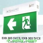 กล่องไฟทางหนีไฟ กล่องไฟทางออก สลิมไลน์ EXB303SVRE,EXB303TVRE V-Line LED Series (Exit Sign Lighting Max Bright C.E.E.)