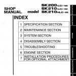 หนังสือ คู่มือซ่อม วงจรไฟฟ้า วงจรไฮดรอลิก จักรกลหนัก Kobelco Hydraulic Excavator SK200, SK210 (ทั้งคัน) EN