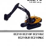 หนังสือ PARTS CATALOG VOLVO EC210 F, LC, LR, NLC