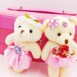 ตุ๊กตาพวงกุญแจ น้องหมี สีชมพู น่ารัก ของชำรวย คละแบบ หรือเลือกแบบได้ ราคาสินค้าต่อแพครวมค่านำเข้าแต่ไม่รวมค่าจัดส่งในไทย