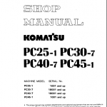 หนังสือ คู่มือซ่อม วงจรไฟฟ้า วงจรไฮดรอลิก จักรกลหนัก PC25-1, PC30-7, PC40-7, PC45-1 (ทั้งคัน) EN