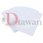 PVC CARD บัตรพีวีซีขาวสำหรับพิมพ์ บัตรพนักงาน บัตรนักเรียน ใช้สำหรับปริ้นเตอร์อิงค์เจ็ท