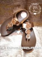 รองเท้าวิ๊งๆเรียง3เม็ดสีทอง รองเท้านุ่มมาก งานรองเท้าสุขภาพคะตัวนี้ บุที่คาดนุ่ม พื้นนุ่มจ้า