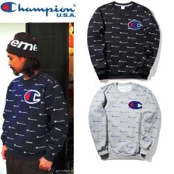 (Pre-Order) เสื้อ Champion Sweatshirt Logo Print