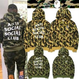 เสื้อ BAPE x Anti Social Social Club Camo Hoodie
