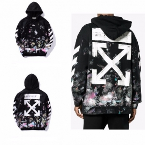 เสื้อ Off-White x Black Diagonal Arrows Galaxy Hoodie