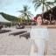 เดรสสีขาว สไตล์ปาดไหล่ งานสวยลายฉลุหวานน่ารักมากกกกก ถ่าย pre-wed ถ่ายชิวทะเลได้เลยจ้า แบบสวม เอวสมอค thumbnail 4