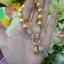 สร้อยข้อมือไหมทองพร้อมจี้ถุงเงินถุงทองนพเก้า thumbnail 1