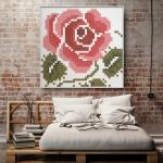 ภาพแต่งผนัง กุหลาบ Wall Decor Large Pink Rose