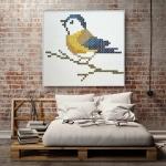 รูปแต่งผนังขนาดใหญ่ Wall decor large yellow bird