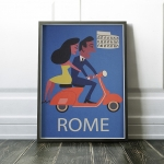 Reproduction Vintage Poster - ROME