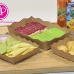 ถาดกระดาษ สำหรับบรรจุอาหาร ครัวซอง แซนวิส แบบต่างๆ