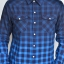 เสื้อลายสก๊อต ผู้ชาย สีน้ำเงิน thumbnail 4