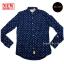 เสื้อเชิ้ตผู้ชายสีน้ำเงิน ลายบอลลูน thumbnail 6