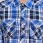 เสื้อเชิ้ตลายสก๊อต ผู้ชาย สีน้ำเงิน ผ้าบาง thumbnail 4