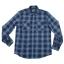 เสื้อเชิ้ตลายสก๊อต สีน้ำเงิน สไตล์ UK เนื้อผ้าดี ผ้าพรีเมียม thumbnail 4