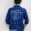 เสื้อลายสก๊อต สีน้ำเงินดำ สไตล์ Biker Rider ยี่ห้อ Arizona thumbnail 3