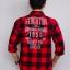เสื้อลายสก๊อต สีแดงดำ แนว Biker ยี่ห้อ Arizona thumbnail 4