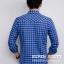 เสื้อลายสก๊อต ผู้ชาย สีฟ้า กระดุมมุก thumbnail 4