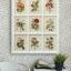 ภาพพิมพ์ดอกไม้สไตล์วินเทจ 9 ช่อง thumbnail 1