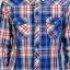 เสื้อเชิ้ตลายสก๊อต ผู้ชาย สีน้ำเงินแดง thumbnail 3