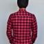 เสื้อลายสก๊อตผู้ชายสีแดง Red Flannel Shirt thumbnail 2