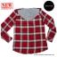 เสื้อคลุมลายสก๊อตผู้หญิง สีแดง มีฮู้ด thumbnail 2