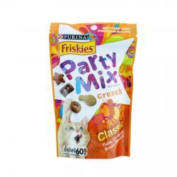 Party Mix Classic ขนมแมว สูตรคลาคสิค รสปลาทูน่า ไก่ และปลาโบนิโตะ 60กรัม หกซอง320รวมส่ง