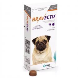 Bravecto บราเว็คโต้ ป้องกันและกำจัดเห็บ หมัดสำหรับสุนัข นน. >4.5-10kg. 750รวมส่ง