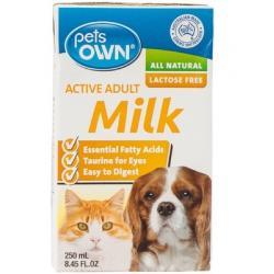 pets own adult active milk 250ml 85รวมส่ง