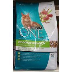 Purina One Adult Indoor Advantage เพียวริน่าวันแมวโต สูตรแมวเลี้ยงในบ้าน ขนาด 1.3kg. 330รวมส่ง