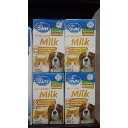 pets own adult active milk 250ml 4กล่อง 230รวมส่ง