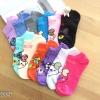 เซตถุงเท้า ลายหมี สีผสม ( 6 คู่ ) คละสีได้